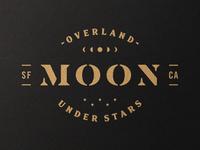 Moon overlanding san francisco lettering logo branding