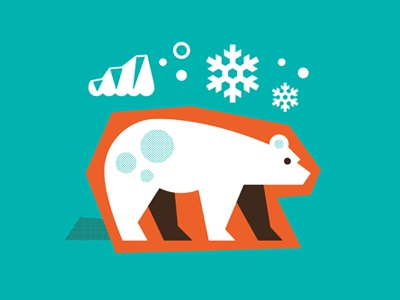 Cheerios illustration polar bear glacier snow snowflake winter north pole tundra freeze cold ice cheerios branding animal