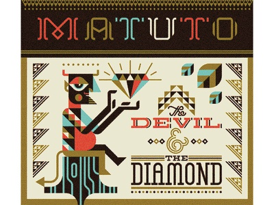 Matuto album music cover matuto devil diamond lettering folk art pattern brazil appalachian illustration brooklyn new york