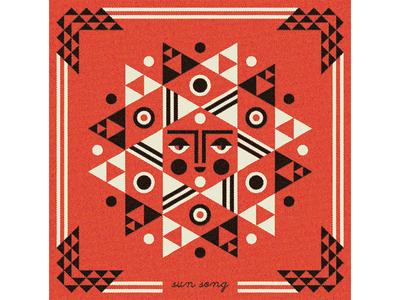 Matuto matuto album sun geometric face folk art border illustration ty wilkins new york brooklyn