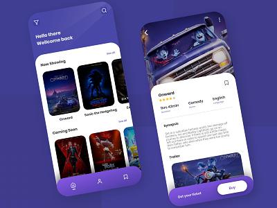 Movie Review App - Simple minimal simple design ui movie movie app movie branding simpledesign simple landscape app design ui flat design