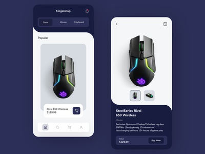 Gaming store equipment app elegant style vector minimal flat clean simple branding app design store app store ui design