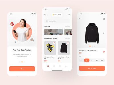 Nova - E commerence Mobile App store fashion brand fashion shop ecommerce branding app clean ui minimal app design clean simple ux flat ui design
