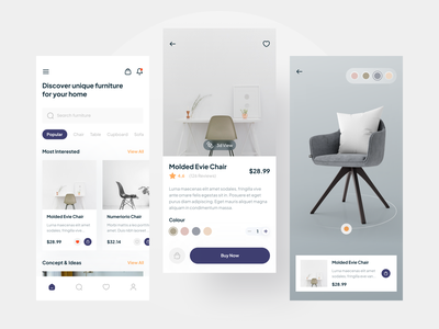Furniture Shop Mobile App shop online shop mobile app house property furniture flat ux app design simple clean design ui