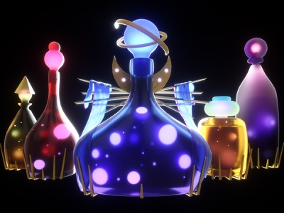 Path of Exile Maven Apothecary boss celestial blender magic health drink bottle potion elixir maven mmorpg game design concept art game art poe path of exile octane cinema 4d 3d c4d