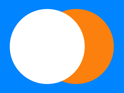 Mail.ru orange blue branding design circle simbol animation vector illustration nimax