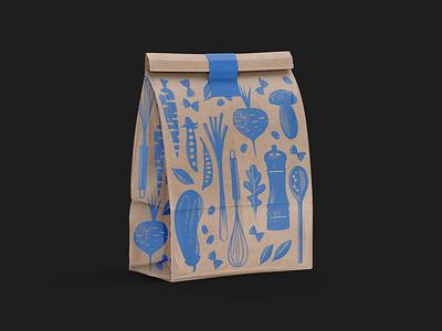 Uzhin Doma cooking food illustration package logo illustration design nimax