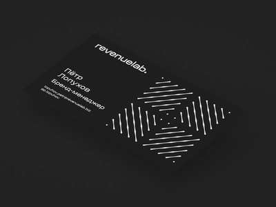 RevenueLab visit card card illustraion typography logo branding animation design nimax