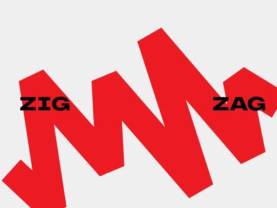 ZigZag yachting sailboat sailing zig zag red vector logo gif animation branding design nimax