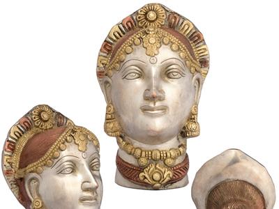Get Brass Statue Of Devi Parvati s Countenance devi parivati goddess parvati brass statues goddess sculptures statues