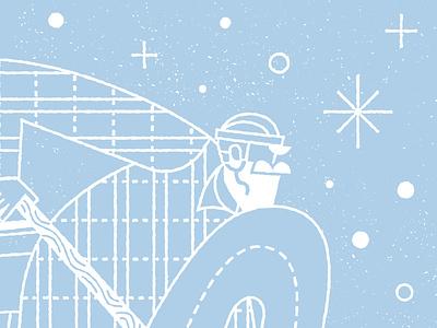 State of Pond Hockey texture lettering one color snow ice paul bunyan minnesota screenprint poster illustration hockey