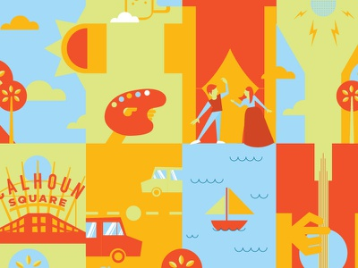 City Of Art festival uptown minneapolis music art dance illustration geometric