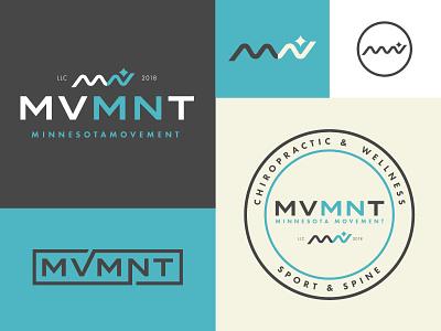 Mvmnt branding badge chiropractic health minnesota identity branding