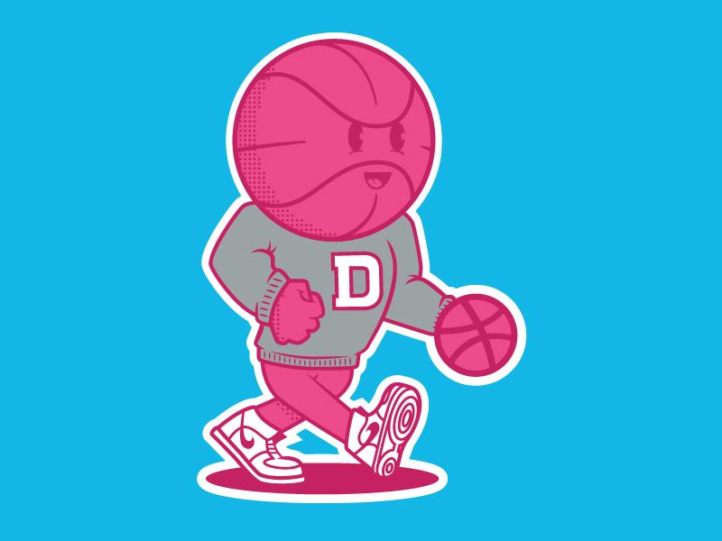 Dribbble Mascot nike vintage sports mascot dribbble basketball illustration