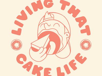 Cake Eater lettering illustration ducks mighty bakery cake minnesota