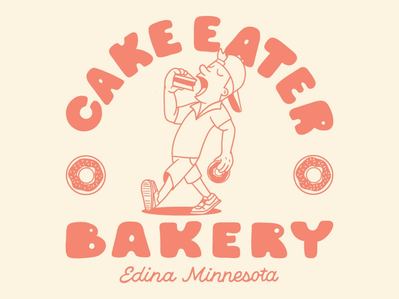 Cake Eater lettering illustration ducks mighty bakery cake minnesota