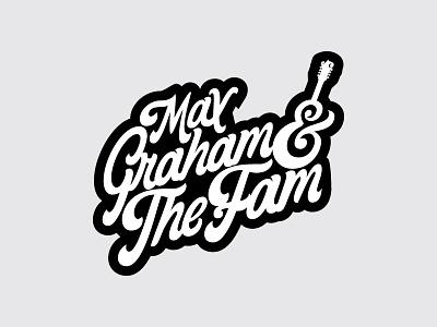Band Logo identity branding lockup type mandolin lettering illustration music band