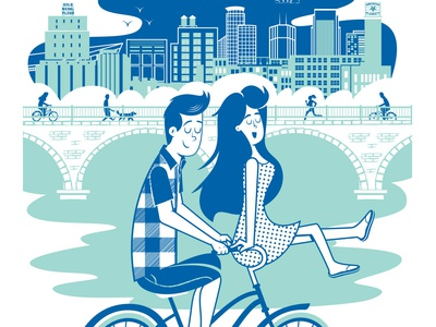 2018 Artcrank Poster screenprint poster artcrank minnesota illustration