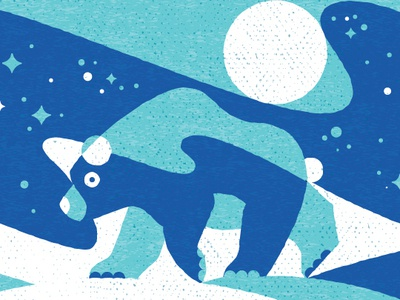 Northern Bear minnesota illustration north sky stars texture geometric bear northern lights
