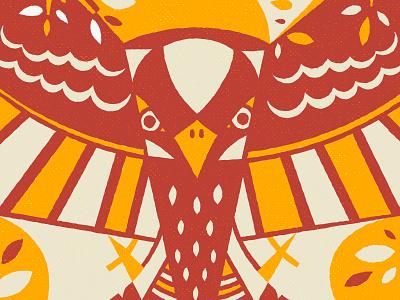 Hawk bird texture skateboarddesign geometric skateboard illustration
