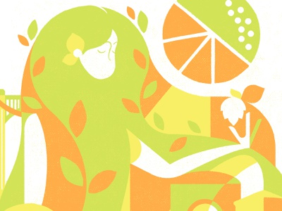 Brew NE poster preview geometric artawhirl minneapolis hops citrus screenprint poster design poster beer illustration minnesota