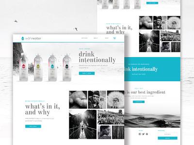 Water homepage web design digital ui ux water