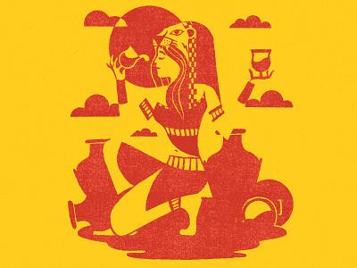 Sekhmet Cropped goddess egyptian mythology texture beer illustration