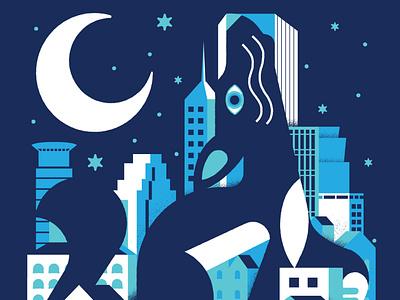 urban coyote minneapolis texture posters coyote illustration ilustrator