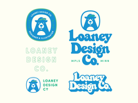 Design lockups bear wordmark custom lettering badges branding illustration lockup