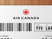 Air Canada Ticket Redesign