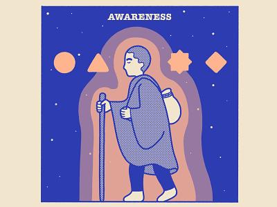 AWARENESS headspace awareness meditation illustration