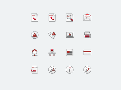 Icon set for Telecom Italia mobile application