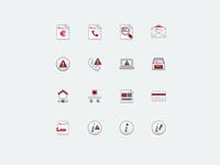 Icon set for Telecom Italia mobile application