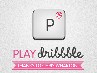 Play Dribbble thanks play dribbble welcome key button