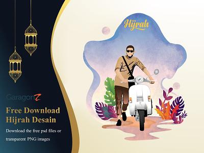 Hijrah And Istiqomah Towards Ramadan scooter psd png freedownload free download ramadan kareem ramadan mubarak islam muslim religion ramadhan ramadan hijrah moslem beautiful illustrator illustration design artwork vector