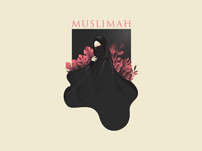 Muslimah Niqab Vector middle east mask mascot logo islamic invitation illustration holy hijab greeting girl eid al-adha dress cute cover characters cartoon black arabian