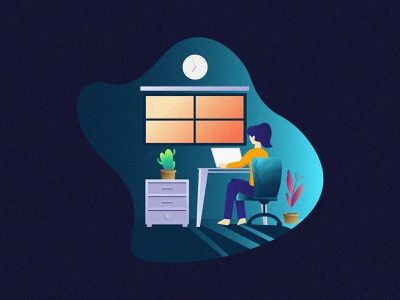 work from home design concept freedownload covid-19 cartoon beautiful work from home workfromhome illustrator design illustration artwork vector