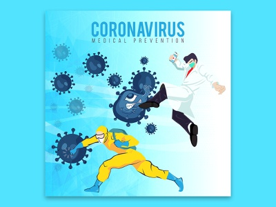 medical prevention Fighting coronavirus doctor pneumonia covid-19 concept protection people 2019-ncov flu medicine illness outbreak illustration prevention virus health infection epidemic coronavirus disease medical