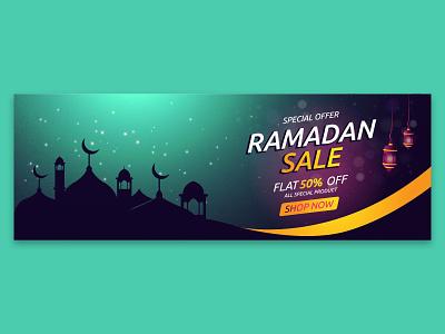 ramadan sale creative social media banner ramadan kareem onlineshop abstract banner social business vector design background flat islam holiday media muslim mosque template colorful card poster arabic