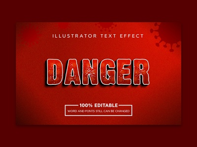 Danger text effect light electric glow abc graphic symbol sign abstract 3d letter modern alphabet effect font typography illustration design text vector background