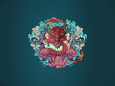 Hand drawn traditional dragon vector full color design beautiful artwork illustrator download hand drawn dragon vector illustration
