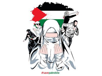 save palestine illustration vector save palestine palestine islamic al aqsa patriotic mosque muslim palestine flag concept freedom banner graphic independence background gaza flag vector design illustration