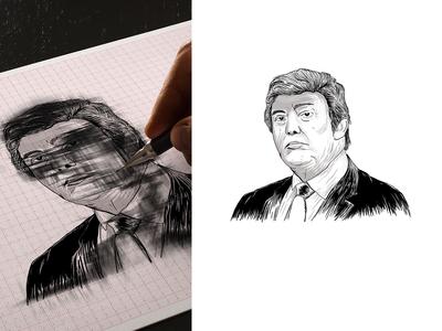 Donald trump Sketch