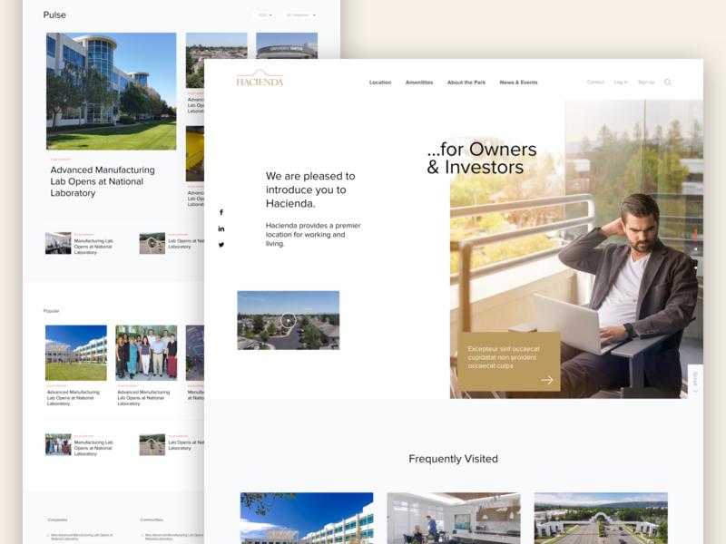 Hacienda Website website responsive web design ui design