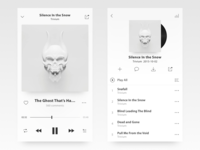 ui of a music player