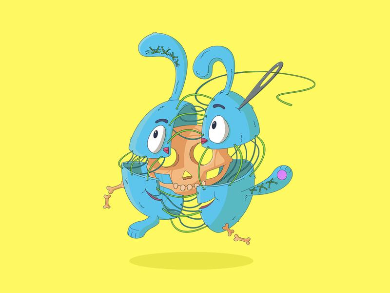 Krash character artwork vector illustration