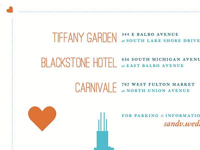 Better colors teal orange ostrich granjon skyline wedding invitation post card