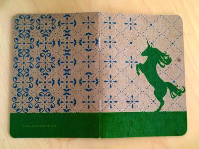 Unicorn Institute Notebook unicorn institute center centre ux school scout books print unicorn illustration