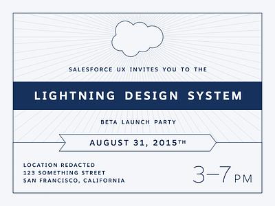 Salesforce Lightning Design System Launch Party Invitation salesforce sans beta invitation party design system