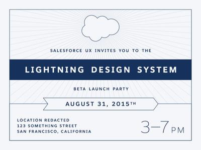 Salesforce Lightning Design System Launch Party Invitation